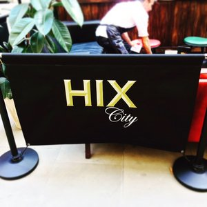 Hix City Cafe Banner Stand Display