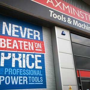 Printed Roller Doors for Axminster Tools & Machinery
