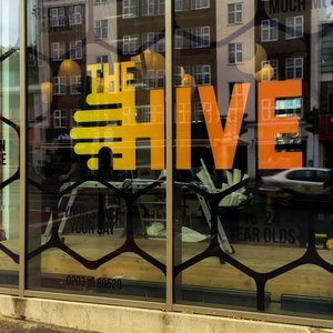 Printed Vinyl Window Graphics for The Hive