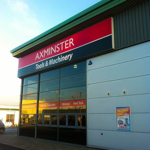 Signage for Axminster Power Tools