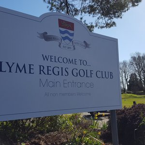 Signage for Lyme Regis Golf Club