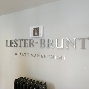 Stand Off Lettering for Lester Brunt Wealth Management