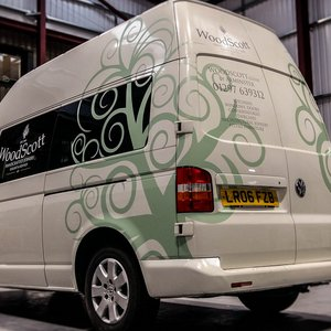 Van Graphics for Woodscott Joinery