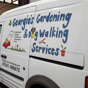 Van Signwriting Georgie's Dog Walking Services