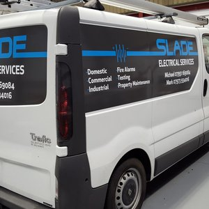 Van Signwriting Slade Electrical