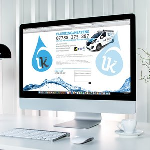 Vehicle Graphics and Website Design for LK Plumbing and Heating