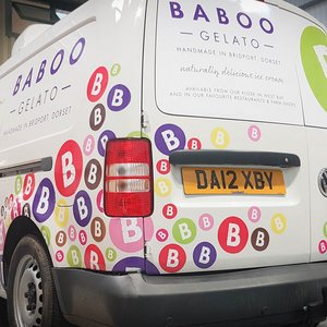 Vehicle Signwriting for Baboo Gelato