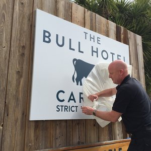 Wall Mounted Signage The Bull Hotel