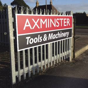 Axminster Tools and Machinery Gate Sign