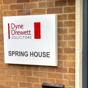 Dyne Drewett Solicitors Wall Mounted Sign
