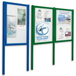 external post mounted notice board