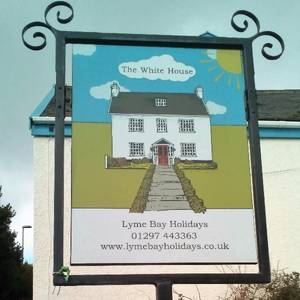 Lyme Bay Holidays House Sign