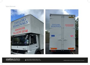 Vehicle Graphics Design for Taylors Removals