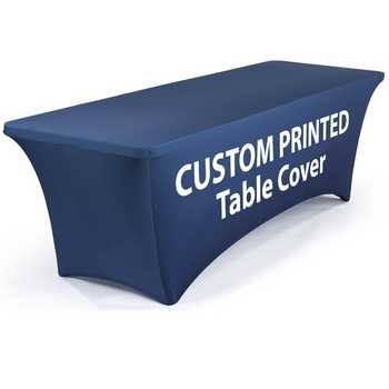Printed Table Cloths | Custom Tablecloths | Fitted Printed Table Covers