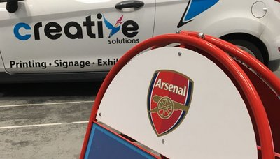 A-Board in production for Arsenal Womens Football Club