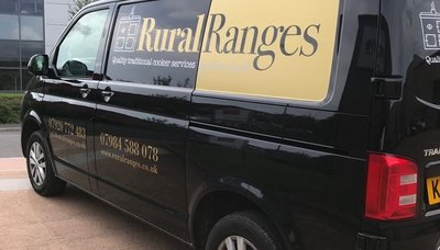 Recently completed van signwriting Rural Ranges