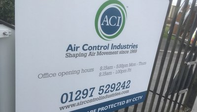 Signage for Air Control Industires
