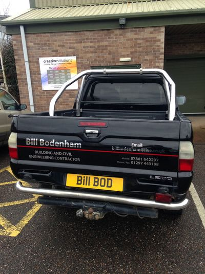 Builders Truck Vehicle Vinyl