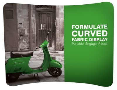 Formulate Curved Fabric Display 2