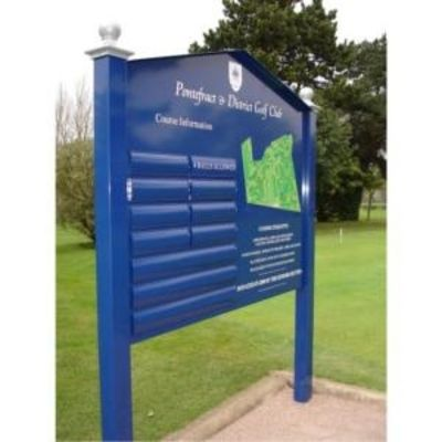 Post Mounted Aluminium Sign 2