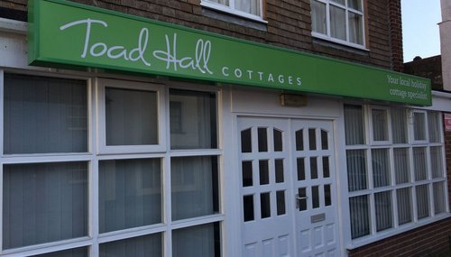 Lightbox Signage for Toad Hall Cottages