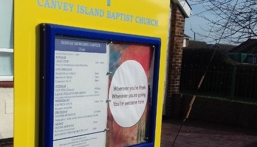 Printed Notice Board for Canvey Island Church