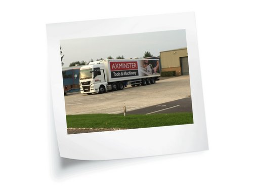 Lorry Signwriting for Axminster Tools by Creative Solutions