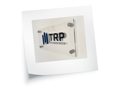 TRP Research Acrylic Sign by Creative Solutions