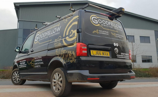 Vehicle Graphics for Goodfellow Electrical Solutions