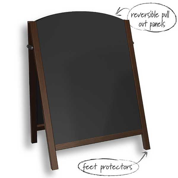 Chalk A Board Pavement Sign w/Reversible Frame. High Quality Softwood Frame