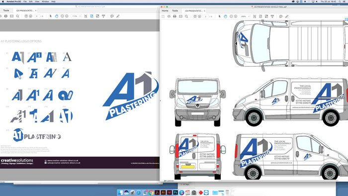 A1 Plastering Graphic Design and Logo Design