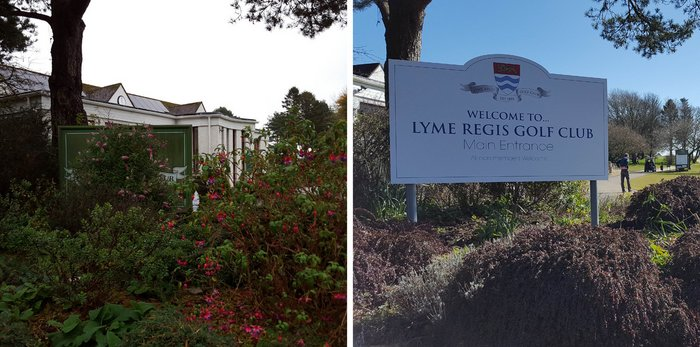 Before and After Signage Lyme Regis Golf Club
