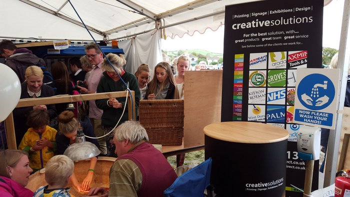 Creative Solutions Banner Stand Melplash Show