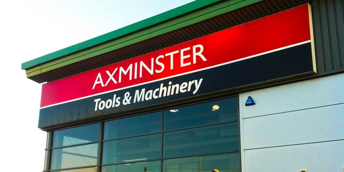 The distinctive colour scheme of Axminster Power Tools