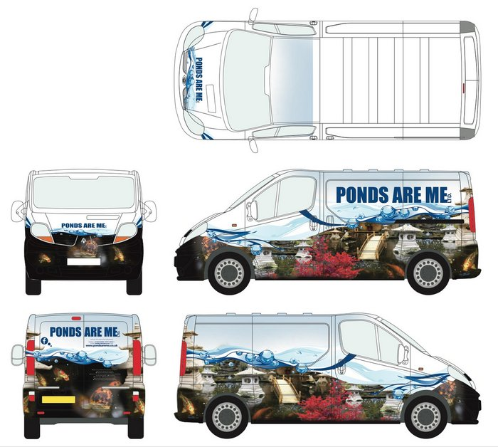 Van Wrap Design - Ponds Are Me Ltd