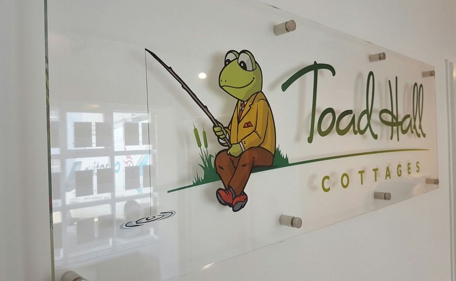 Acrylic Signage for Toad Hall Cottages