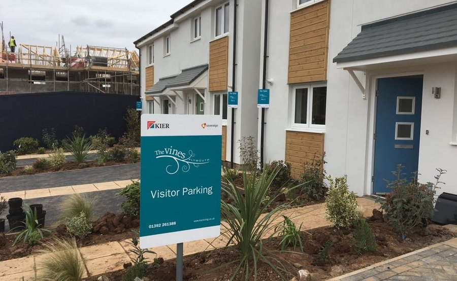 Kier Living Site Signage Installation
