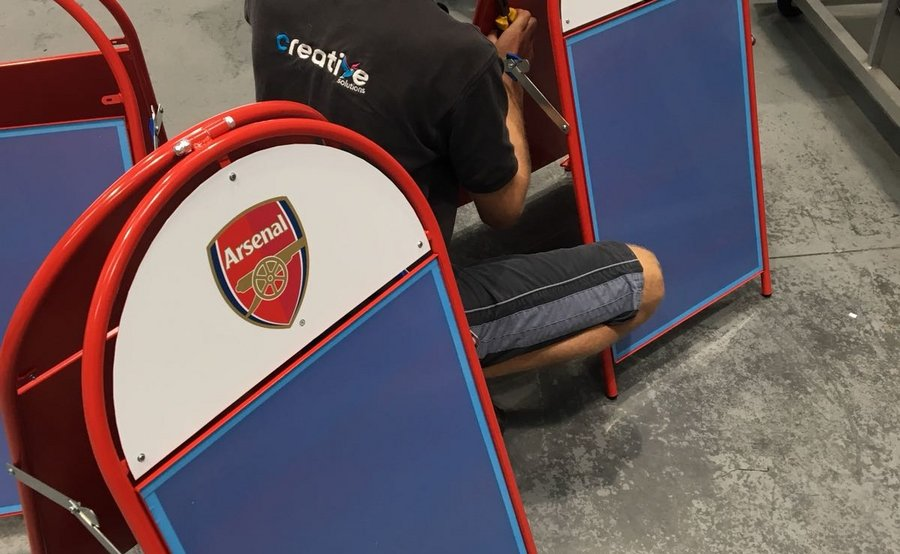 Pavement Signs being produced for Arsenal Womens Football Club
