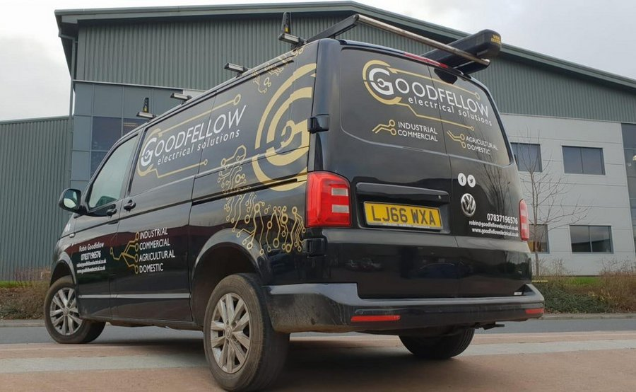 Van Signwriting Axminster Property Co