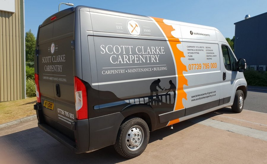 Van Signwriting for Scott Clarke Carpentry