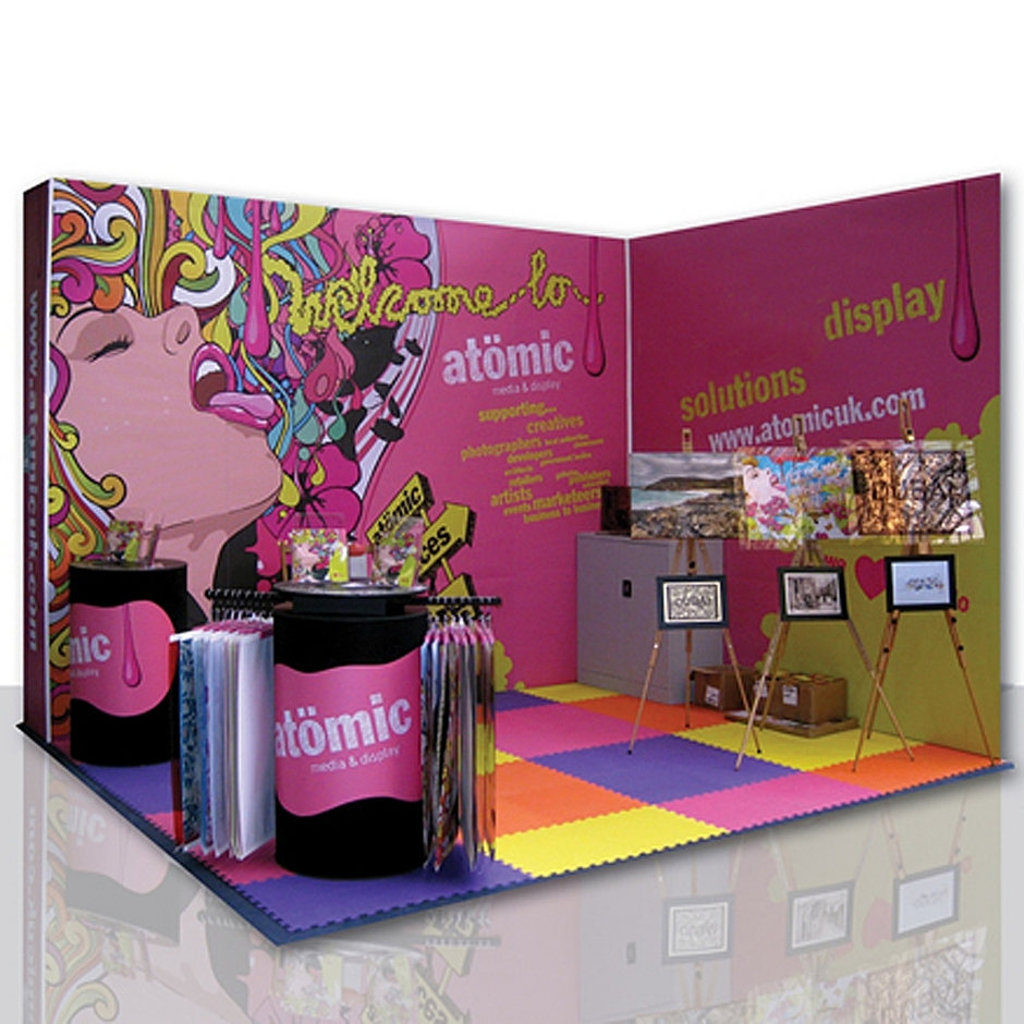 Exhibition Stand Wraps : M shell clad exhibition stand