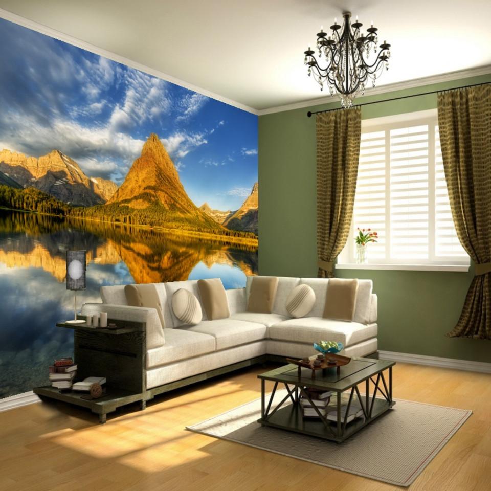 Living Room Wallpaper Mural Printing