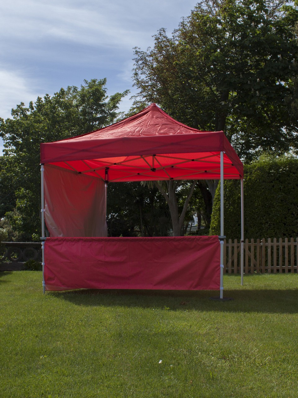 Branded Gazebo With Printed Back Wall And Half Side Wall