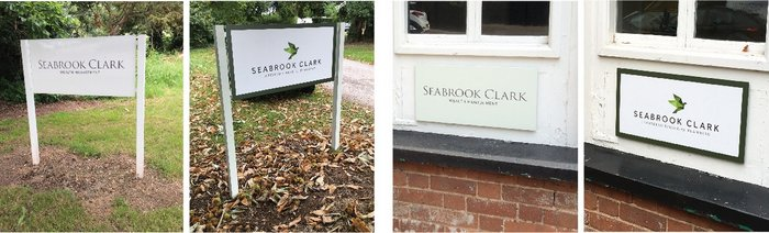 Before and After Seabrook Clark External Signage