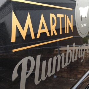 Vinyl Lettering Decals for Martin Canniford Plumbing